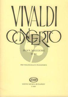 Vivaldi Concerto G-major (RV 413) (PV 120/F.III No.12) Violoncello-piano