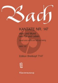 Bach Kantate No.147 BWV 147 - Herz und Mund und Tat und Leben (Heart and Voice and all our being) (Deutsch/Englisch) (KA)