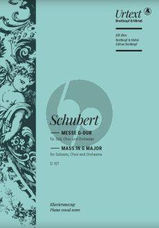 Schubert Messe G-major D.167 STB soli-SATB-Orchester Klavierauszug (Lateinisch) (edited by Franz Beyer and Friedrich Spiro)