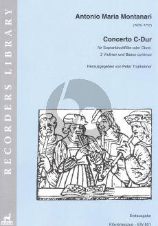 Montanari Concerto C-major Descant Rec. (or Oboe)- 2 Vi.-Bc (piano red.)