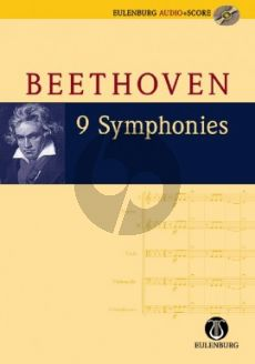 Beethoven 9 Symphonies Study Score (Book with Audio) (edited by Richard Clarke)