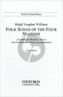 Vaughan Williams Folksongs of 4 Seasons (Vocalscore)