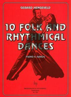 Hengeveld Folk and Rhythmical Dances Piano 4 hds