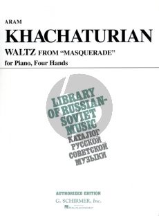 Khachaturian Waltz from Masquerade Piano 4 hds