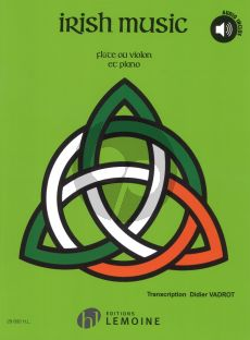 Vadrot Irish Music for flute or Violin and Piano (Book with Online Audio)