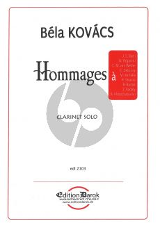 Kovacs Hommages Clarinet Solo