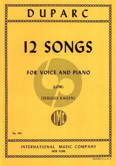 Duparc 12 Songs Low Voice (Sergius Kagen)