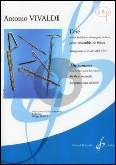 L'Ete (The Summer) Op.8 No.2 (from 4 Seasons) (Flute Ens.) (Score/Parts) (arr. Gerard Grognet)
