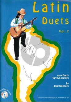 Wanders Latin Duets Vol.2 2 Guitars (Bk-Cd) (Easy Duets with Play Along Cd) (Grade 2 - 3)