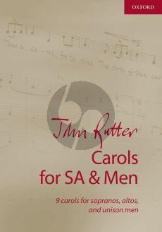 Rutter Carols for SA-Men Vocal Score