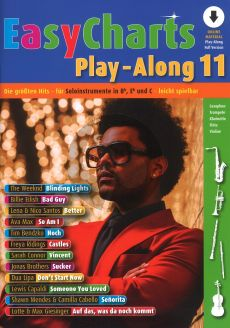 Easy Charts Play-Along Vol.11 (all C.-Bb-Eb. Instr.) (Book with Audio online) (Uwe Bye)