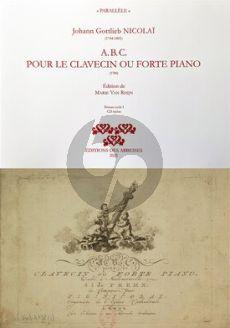 Nicolai L'A.B.C pour le clavecin ou forte piano Book with Cd (Comprend 32 leçons et des suppléments classés par tonalité) (Edited by Marie Van Rhijn)