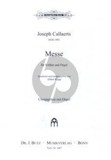 Callaerts Messe Op. 24 SABar und Orgel (Albert Kupp)