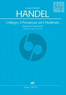 L'Allegro, Il Penseroso ed Il Moderato HWV 55 (Soli-Choir-Orch.) (Vocal Score) (germ./engl.)