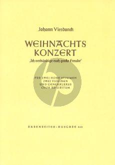 Weihnachtskonzert Hohe Stimme - 2 Violinen und Generalbass (Ich verkundige euch grosse Freude)