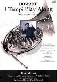 Mozart Concerto D-major KV 412 / 514 ( 386b ) Horn-Orchestra (Solo Part[D/F] with CD) (Dowani)